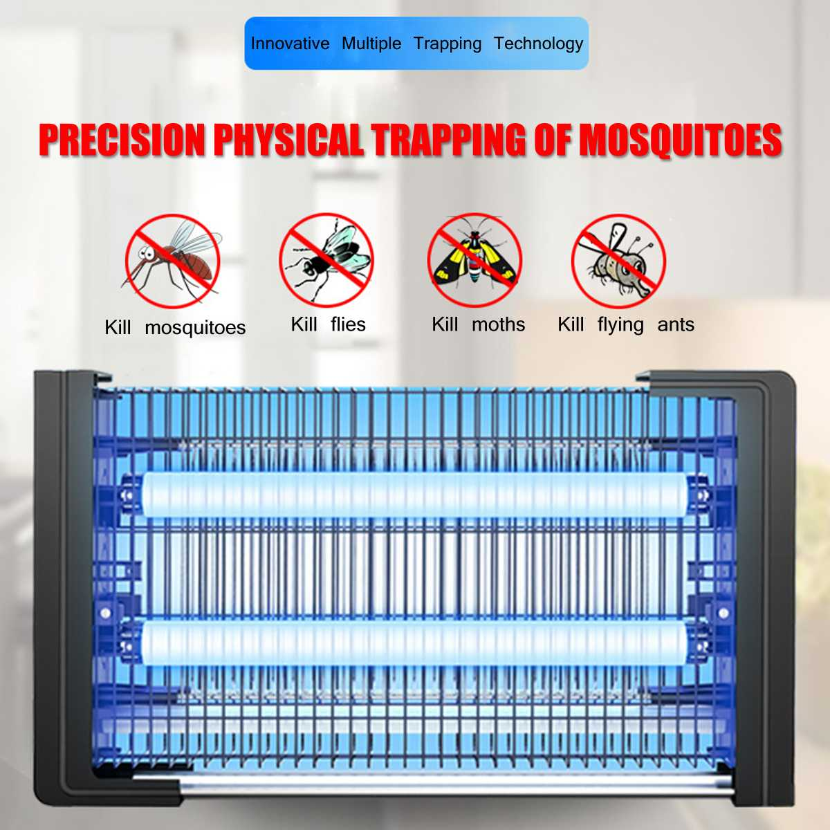 220V LED Mosquito Killer Lamp LED Light Insect Killer 3W/6W Energy Saving Anti Mosquito Lamp Electric Shock UV Zapper Repellent