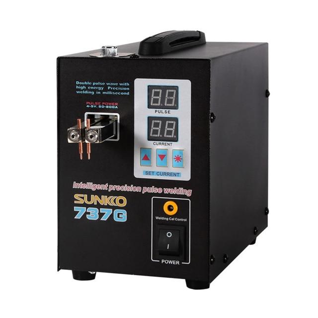 737G Battery Spot welder LED light Spot Welding Machine 18650 battery pack welding precision pulse spot welders Puntlasmachine
