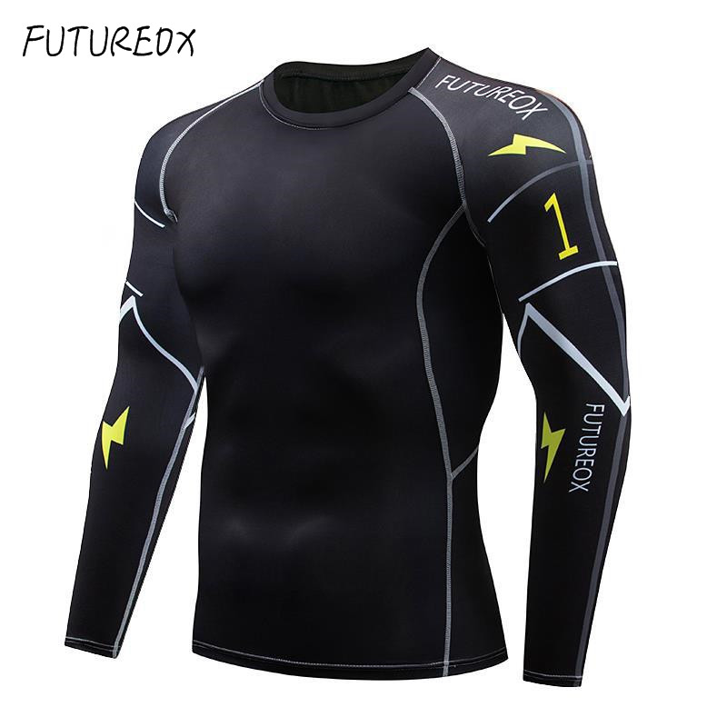 Mens Brand Compression Shirt 3D Teen Wolf Base Layer Long Sleeve Running T Shirt Fitness Men Lycra Yoga T-Shirts Tights