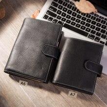 Оригинальный винтажный блокнот Yiwi A6/A7 из натуральной кожи, дневник путешественника, журнал ручной работы, подарок из воловьей кожи, дорожный блокнот, аксессуары