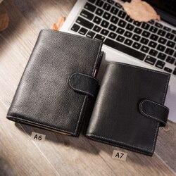 Yiwi A6/Personal A7 Vintage cuero genuino viajero agenda diario hecho a mano cuero de vaca regalo viaje notebook Accesorios