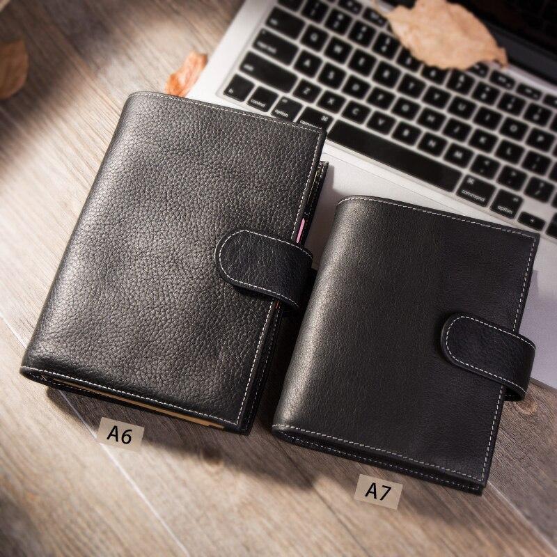 Yiwu A6/Personal A7 Vintage cuero genuino de viajero cuaderno diario, diario hecho a mano de cuero de vaca de regalo viaje Notebook Accesorios