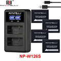 4 NP-W126 NP W126S зарядное устройство для fujifilm fuji X-E2 X100F XT20 XT30 XT3 XT2 XE1 XE2S XE3 XM1 XA1 XA2 XA3 XA5 XA20 отслеживание