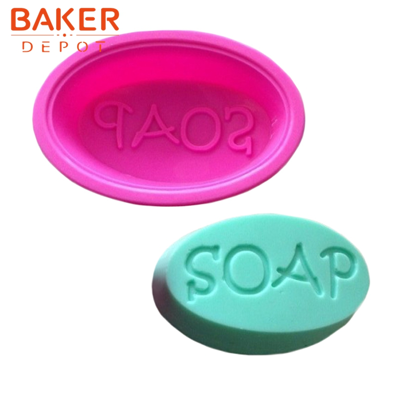 BAKER DEPOT Cake Bakeware Tools Silicone Handmade Soap Mold S O A P words Pattern Mold CDSM-604