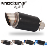 51MM Motorcycle Exhaust Muffler Real Carbon Fiber For Many Motorcycle