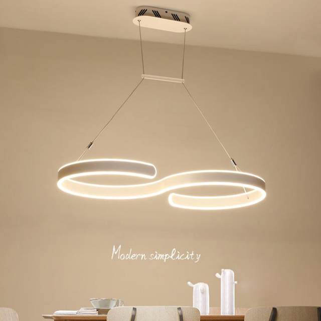 Moderne Kreative S Typ LED Anhänger Lichter Hängen Lampe Esszimmer  Wohnzimmer Anhänger Lampe Leuchten
