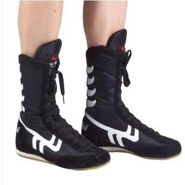 2016 High quality men Wrestling Shoes high boxing shoes Rubber outsole breathable pro wrestling gear for men and women boxeo