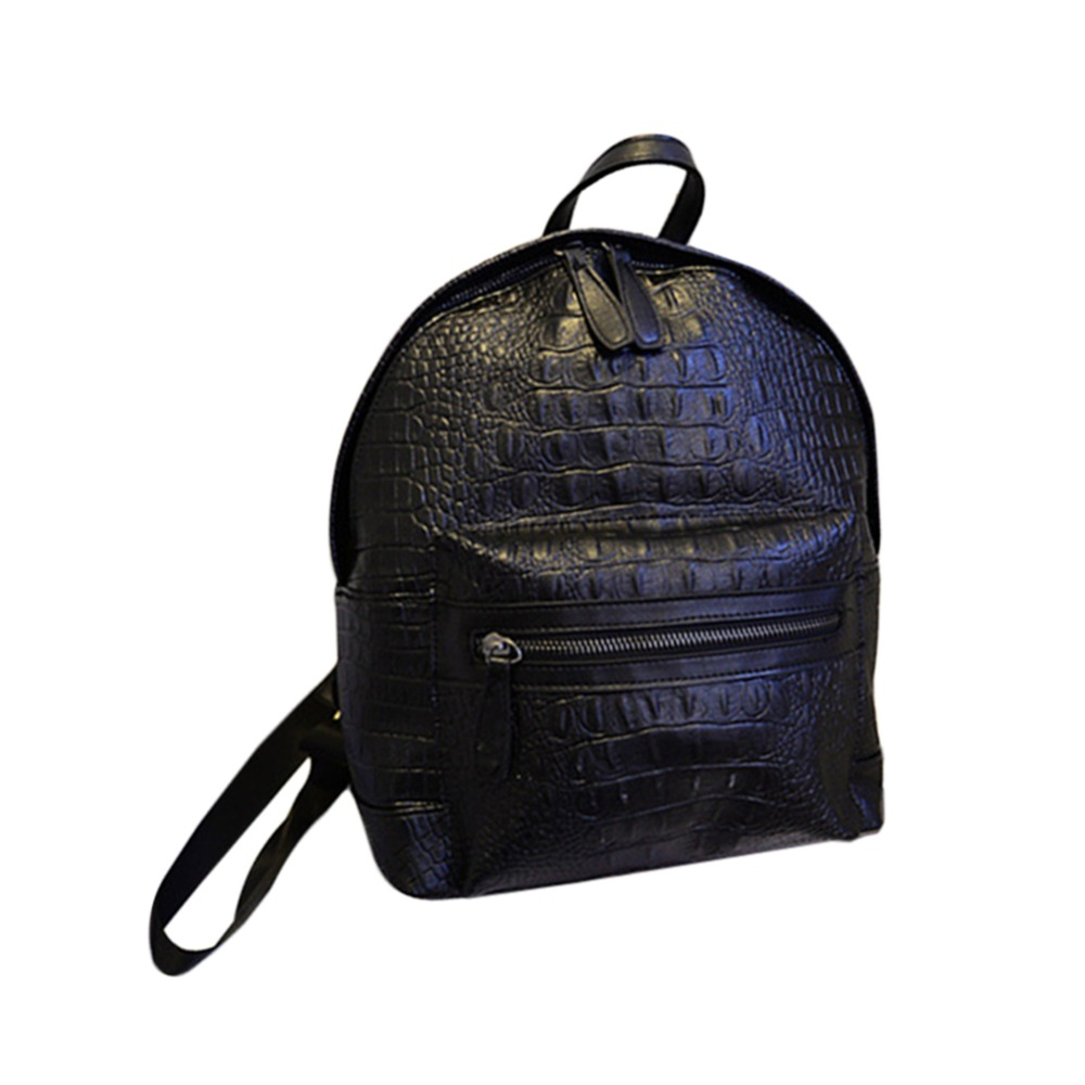 Fashion Women PU Backpack Alligator Crocodile Schoolbags For Teenagers Girls Bagpack LXX9