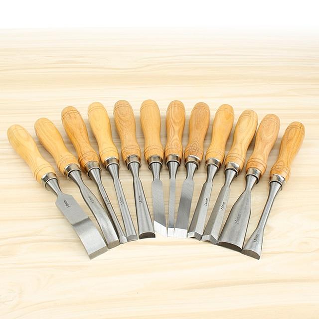 12 unids set talla de madera cinceles para grabado en - Herramienta de bricolaje ...