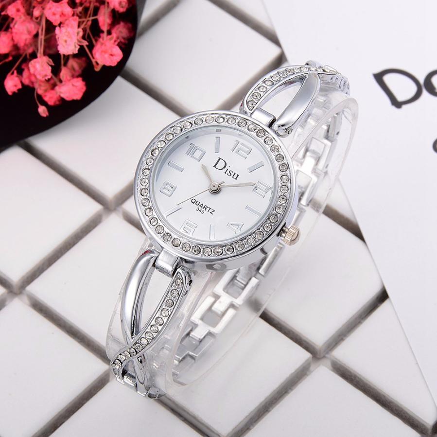 Luxury Women Bracelet Watches Elegant Rhinestone Dress Wristwatch Ladies Quartz Fashion Watch Relogio Feminino Dropshiping  #D