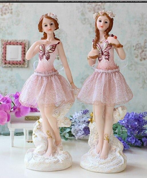 Belle ange ballerine créative de style européen ameublement un salon cave à vin décoration chambre fille poupée