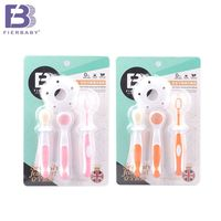 Fierbaby Economic Three Piece Baby Toothbrush Clean Suits Newborn Baby Kids Special Training Toothbrush And Tongue
