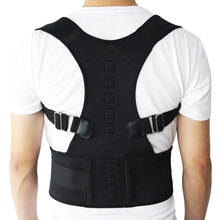 New Male Female Adjustable Magnetic Posture Corrector Corset Back Brace Belt Lumbar Support Straight de espalda