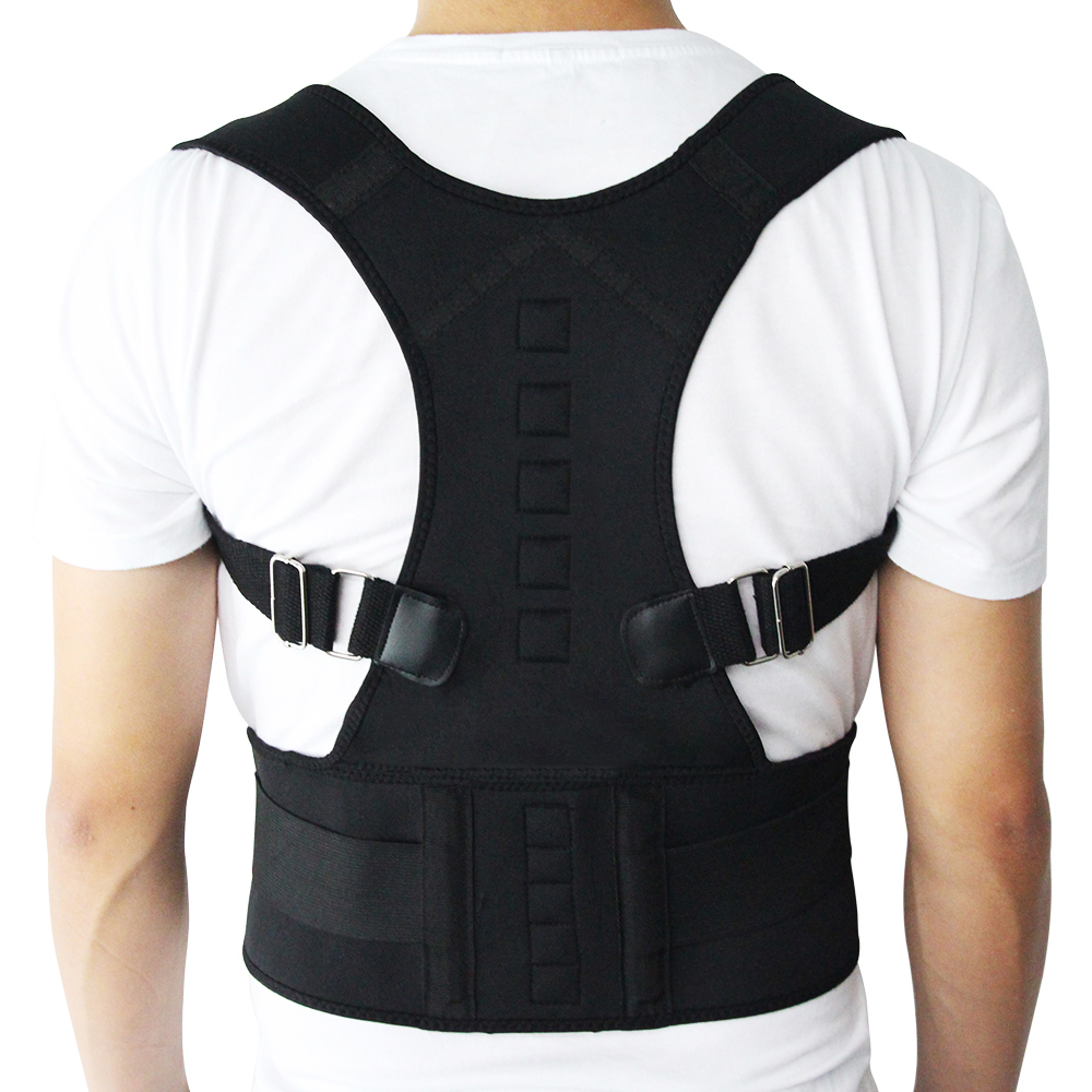 New Male Female Adjustable Magnetic Posture Corrector Corset Back Brace Back Belt Lumbar Support Straight Corrector de espalda