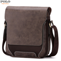 VICUNA POLO Breathable Oxford Patchwork PU Leather Mens Crossbody Bag Vintage Men Messenger Bags European Brand