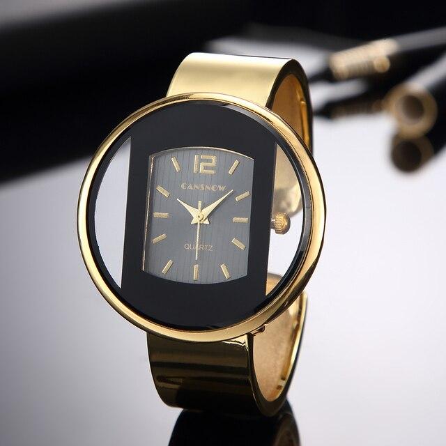 Luxury Brand Women New Fashion Bracelet Watches Silver Gold Analog Quartz Wrist Watch Clock Lady Dress Saats Reloj Mujer
