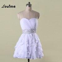 Trắng Ngắn Homecoming Dresses Giá Rẻ 8 Tốt Nghiệp Lớp Prom Dresses Khá Corset Lại Wedding Bên Váy vestido de festa
