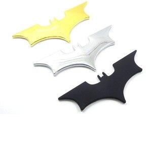 Image 5 - Car Metal Batman Car Stickers 3D Three dimensional Decorative Stickers Batman Superman Labeling Car Tail Body Stickers Styling