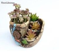Creative Mini Cement Flower Pot Home Office Decor Planter Colorful With Pots Trays Green Plant Artificial Flower Pots ZH006