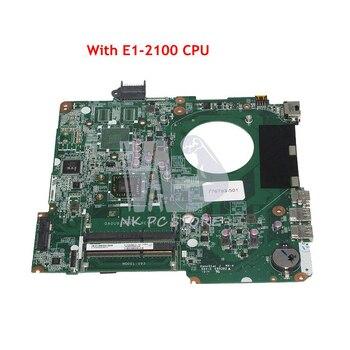 NOKOTION 776783-501 776783-001 For HP Pavilion 15-F Laptop Motherboard DA0U93MB6D0 E1-2100 CPU Onboard DDR3