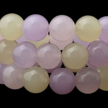 Free shipping natural multicolor chalcedony 4-14mm smooth round beads making jewelry craft findings handmade materials