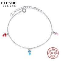 Eleshe 3 цвета бутылки для маленьких девочек Jewelry 925 серебро браслет Bebe Pulsera bracelete для детей ювелирные изделия