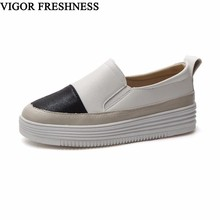 VIGOR FRESHNESS Flats Shoes Women Spring Loafer Espadrilles Autumn Women's Boat Shoes Slip On Casual Flat Ladies Sneakers WY65
