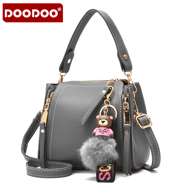 2017 New Cute Little Bear Pendant PU Leather Bags Women Brand Designer Handbags High Quality Tote Women Shoulder Messenger Bags 4 in 1 composite bag female lolita style zipper leather cute bear pendant designer brand handbags for women bolsas de couro 49