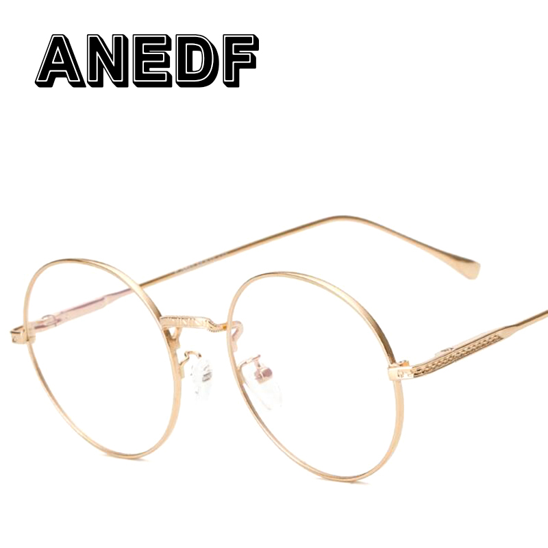 72bb0afefb Online Shop ANEDF 2016 Glasses Frame Retro Round Eyeglass Frame Vintage  Spectacles Round Computer Glasses Unisex NO Degrees