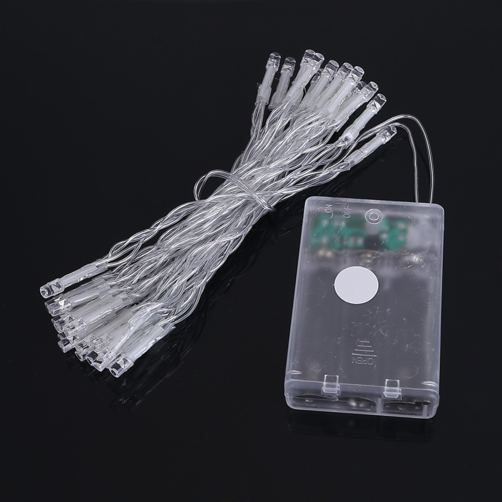 String Lights With Battery: 3M 30leds LED String Light 3XAA Battery Operated Fairy