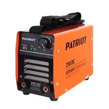 Аппарат сварочный инверторный PATRIOT 210DC MMA (Выходной ток 20-180 А, диаметр электродов 1.6-4.0 мм, мощность 7300 Вт, ПВ при макс.токе 60%, работа при пониженном напряжении 140-240 В)