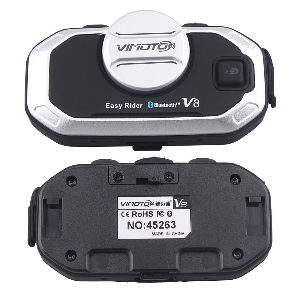 Vimoto 2 sztuk V8 Kask Motocyklowy Zestaw słuchawkowy Interkom - Akcesoria motocyklowe i części - Zdjęcie 3