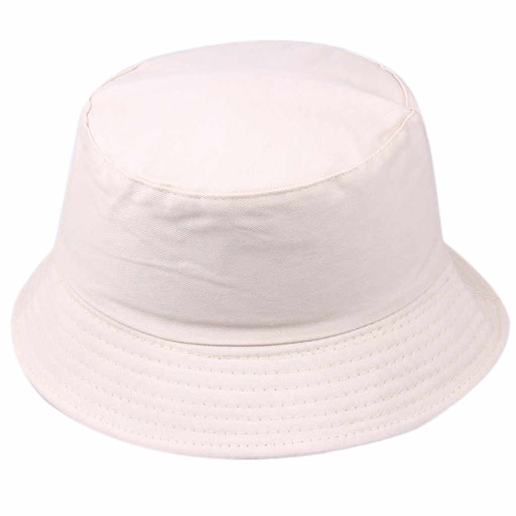 Unisex Solid Color Bucket Cap Fashion Wild Casual Outdoor Hats Simple Foldable Sun Summer Hat Czapka Z Daszkiem #BL5