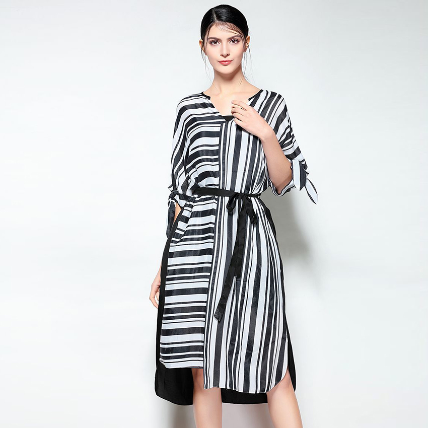 HIGH QUALITY New Fashion 2018 Designer Runway Dress Women