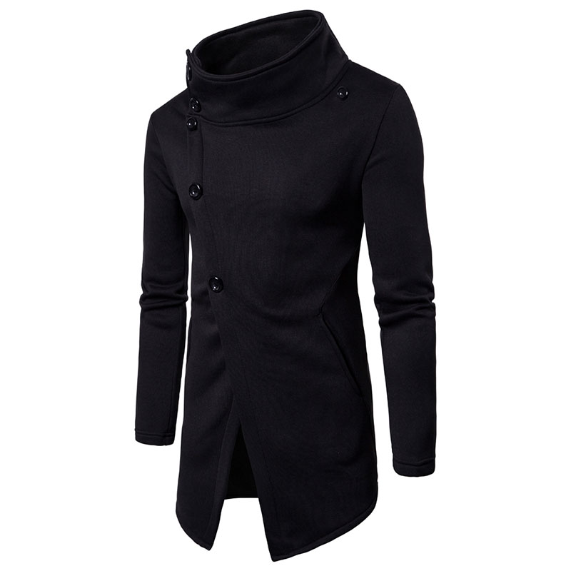 Mens Casual Sweatshirt 2018 New Mens Fashion Collar Cardigan Casual Hooded Sweater Fashi ...