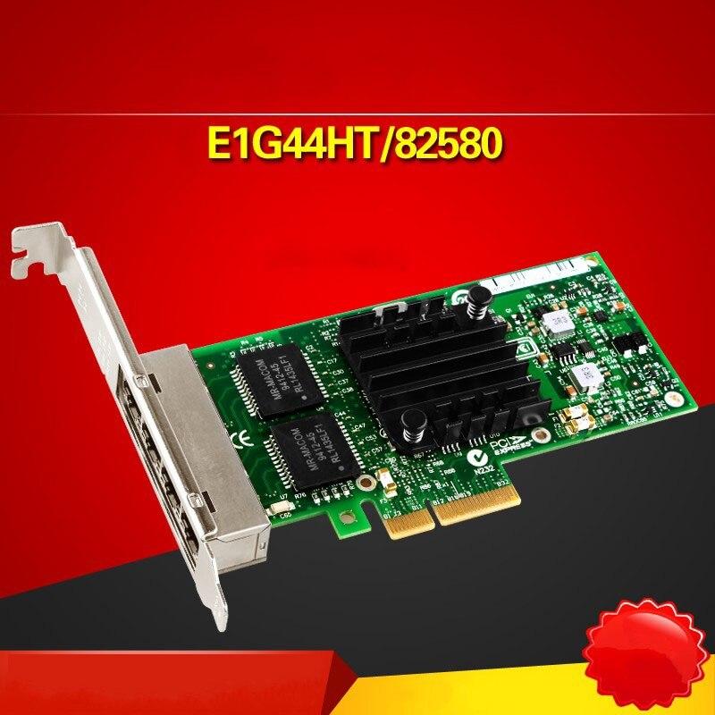 E1G44HT I340-T4 82580 10/100/1000M PCI-Express RJ45 Ethernet Server Adapter Card wyi350t4 rj45 pci e gigabit ethernet network adapter card nic inteli350 t4 i340 t4