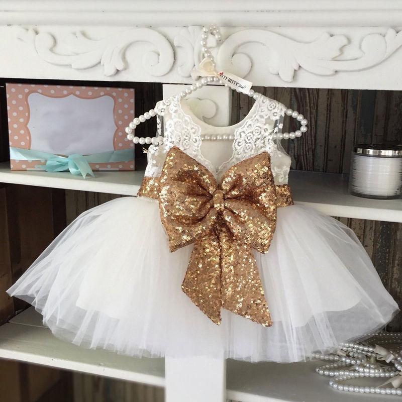 Uşaqlar Baby Girl Sequins Boknot Don Şirin Top Geyinmiş Milad - Uşaq geyimləri - Fotoqrafiya 2