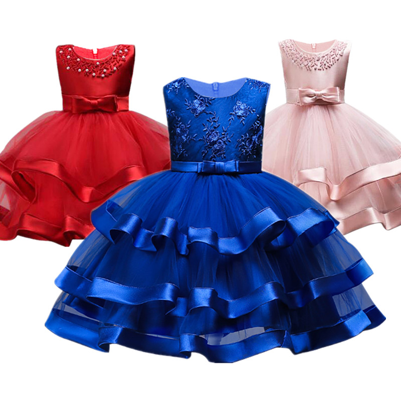 Kids Dresses for Girls Wedding Party Baby Girls Sleeveless Bow Princess Dress Costume for Age 3 4 5 6 7 8 9 10 Years Kids Girls Накомарник