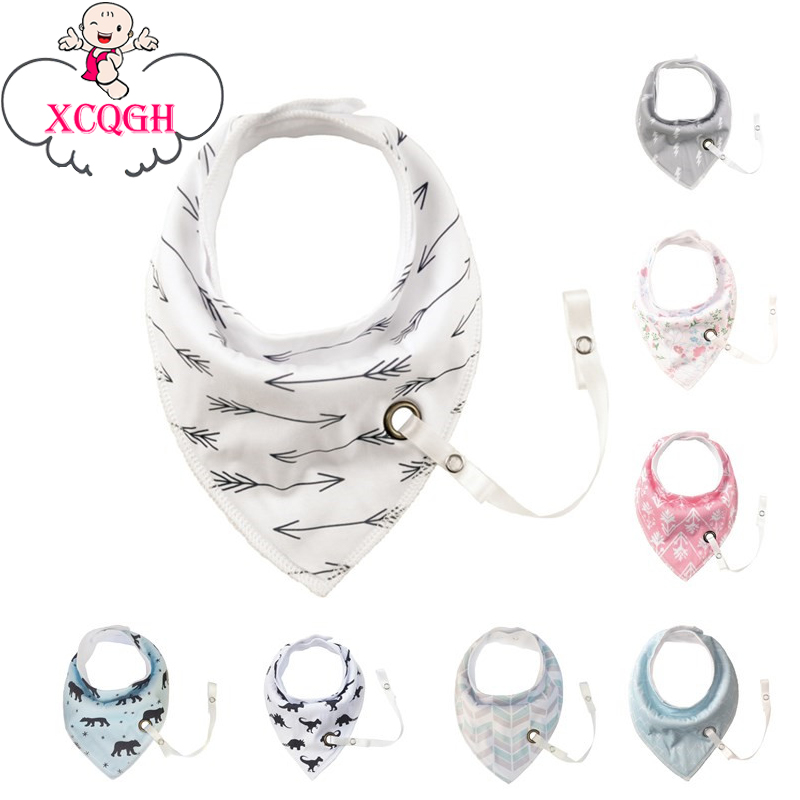 XCQGH 1PCS Baby Bibs With Pacifier Hangers More Pattern Newborn Infant Baby Bibs Girl Bandana Burp Cloth Feeding ...