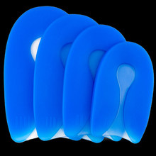 1Pair Silicone Gel U-Shape Foot pain Care Plantar Fasciitis Heel Protector Heel Spur Pad Shoe Insole for Men Women 4 Sizes(China)