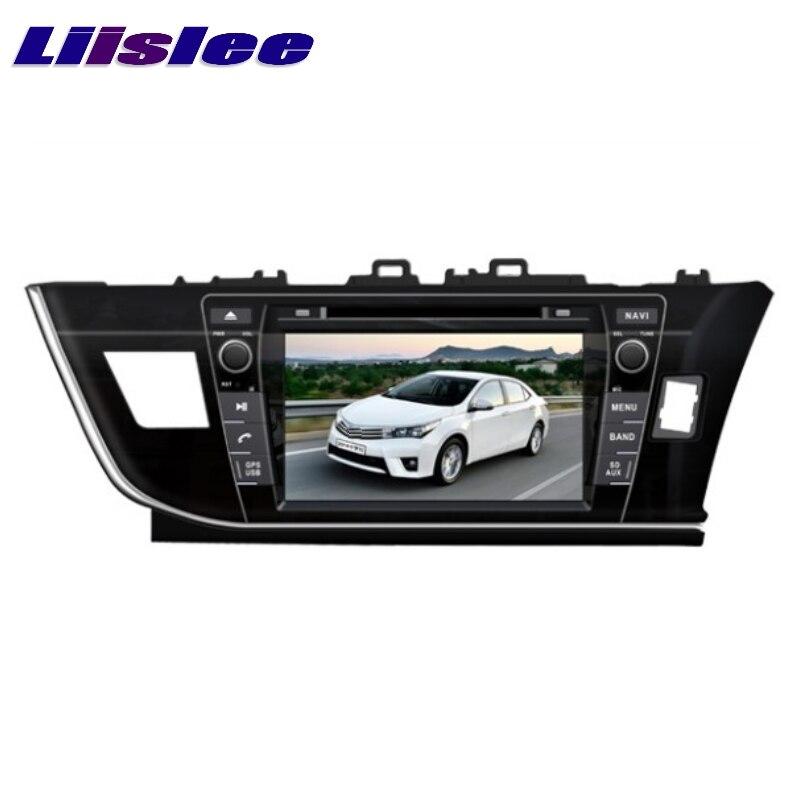 For Toyota Corolla Right Hand Drive LiisLee Car Multimedia TV DVD GPS Audio Stereo Hi-Fi Radio Original Style Navigation NAV