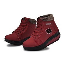 2016 new winter boots women cotton padded shoes plus velvet keep warm winter boots female shook increased fashion shoes B739