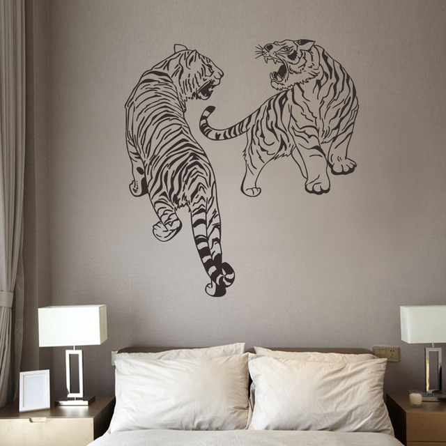 New Tiger Beast Vinyl Wall Decal Animals Home Decor Living Room - Vinyl wall decals animals