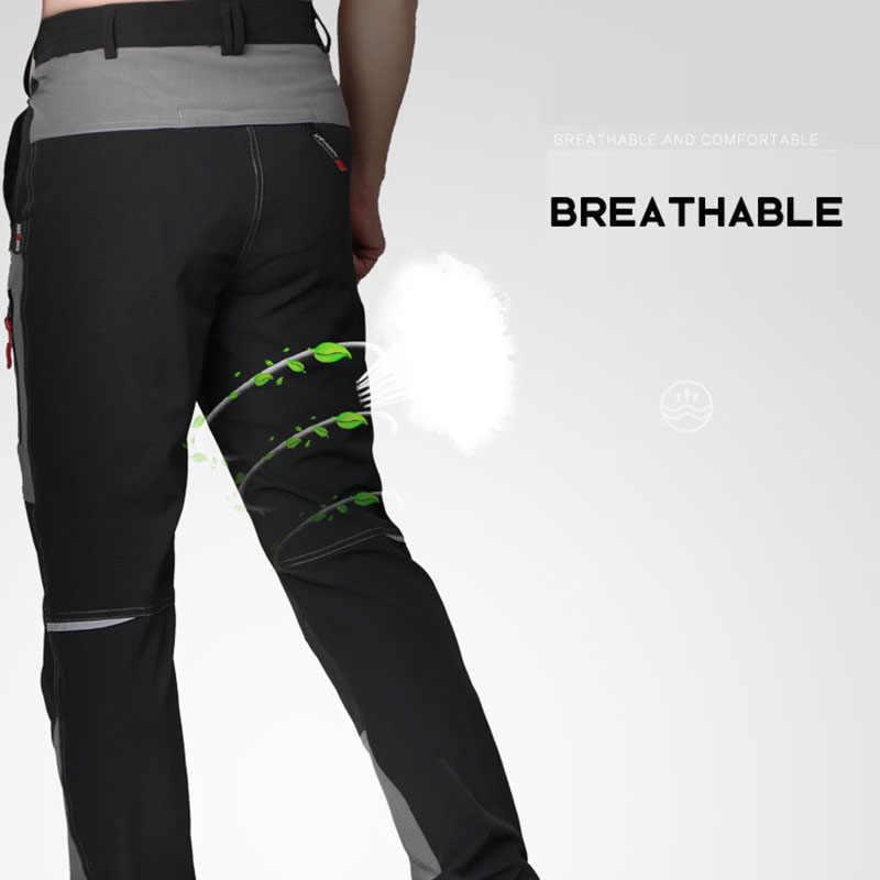Calças softshell masculinas para o verão, calças com secagem rápida, à prova d' água, para atividades ao ar livre, acampamento, trilhas, ciclismo, pesca, 2020