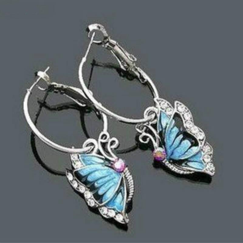 Diseñador de la marca Fine Jewelry Brincos Astilla Plateó Cristalino Lindo Pendi