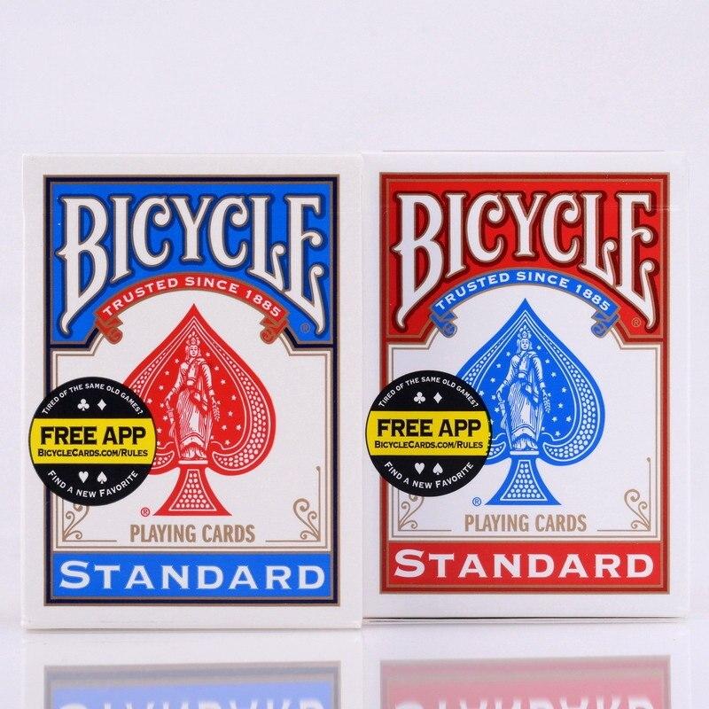 2 pz/set USA Native Ponte Biciclette Red & Blue Magic Regular Playing Cards Rider Torna Standard Ponti Trucco Magico 808 Sealed Deck
