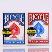 2 teile/satz USA Native Fahrrad Deck Rot & Blau Magie Regelmäßige Spielkarten Reiter Zurück Standard Decks Zaubertrick 808 versiegelt Decks