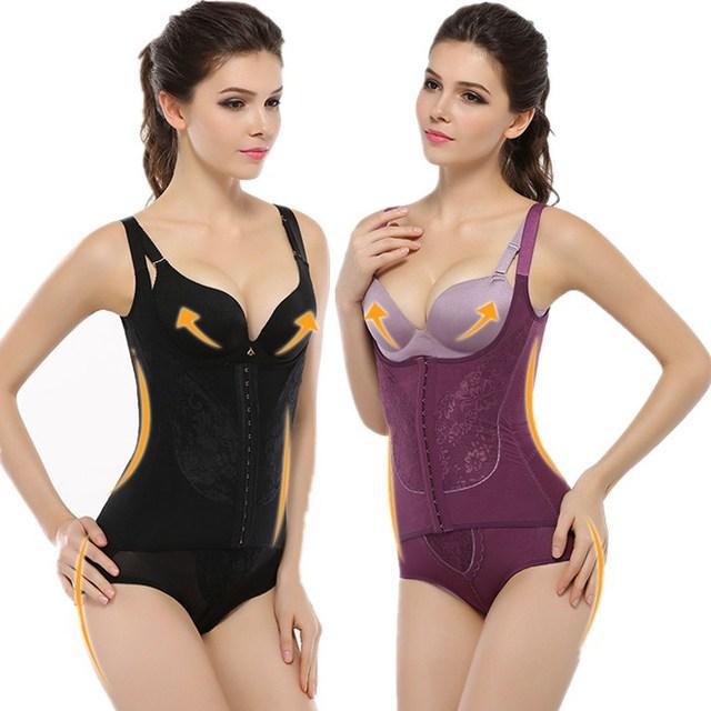 2 estilos magnetismo 4xl sexy body slimming body shapers sujetadores elevación gancho de cintura vientre de control tummy trimmer fajas