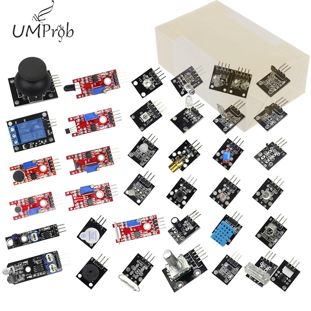 37 em 1 Sensor Módulos Kit para arduino UNO R3 37in1 MEGA 2560
