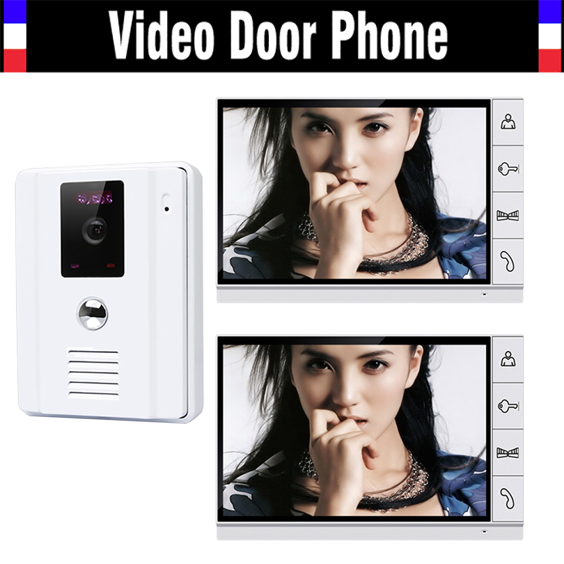 New 9 inch Video Door Phone LCD Monitor Video DoorBell Rings CMOS Night Version Camera With Intercom System for Home Security 7 inch video doorbell tft lcd hd screen wired video doorphone for villa one monitor with one metal outdoor unit night vision